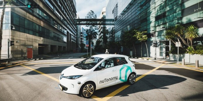 Беспилотное такси в Сингапуре
