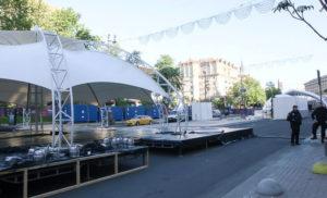 Сцена к Евровидению